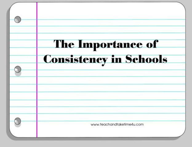 Schools need consistency